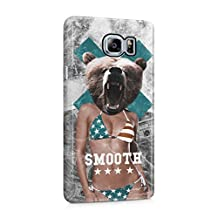 Smooth Sexy American Naked Girl Bear Head Plastic Phone Snap On Back Cover Shell For Samsung Galaxy Note 5