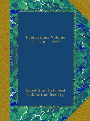 Publications Volume ser.2, no. 19-20 pdf