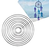 Metal Ring Hoop,Sundlight 10PCS DIY Handmade Dream Catcher Circular Net for Wall Car Hanging Decor Craft Gift,Different Size