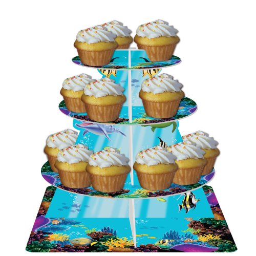 Creative Converting Ocean Party Tiered Cupcake Stand