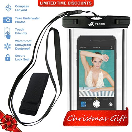 ⚡ [ PREMIUM QUALITY ] Universal Waterproof Phone Holder with ARM BAND & LANYARD - Best Water Proof, Dustproof, Snowproof & Shockproof Pouch Bag for Apple iPhone, Android & All SmartPhone