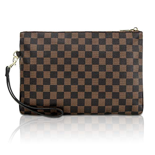 Gerosse Designer Clutch Purses for Women, Envelope Checkered Clutches Bag, Women Wristlet Handbag (Best Designer Clutch Bags)