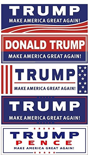 Donald Trump for President Bumper Stickers - Variety 10 Pack - Make America Great Again - 2016 Presidential Election - Five Different Sticker Designs - Limited Time Offer