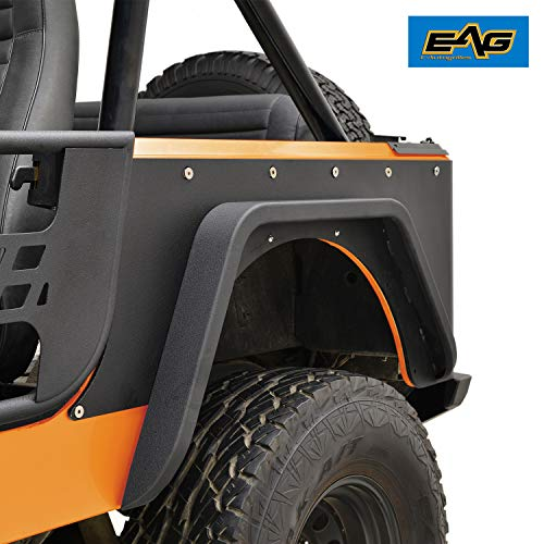 EAG Off Road Steel Rear Corner Guards Fit for 76-86 Jeep Wrangler -