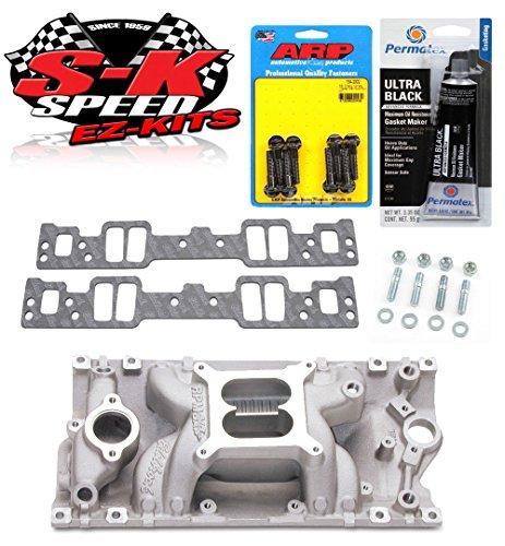 Edelbrock 7516 SB Chevy Vortec Performer RPM Air Gap Intake Manifold w/Bolts/Gaskets/RTV (Performer Rpm Air Edelbrock Gap)