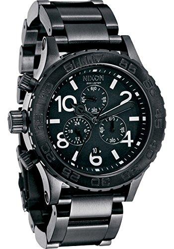 Nixon 42-20 Chrono Black Dial Steel Mens Watch A037001