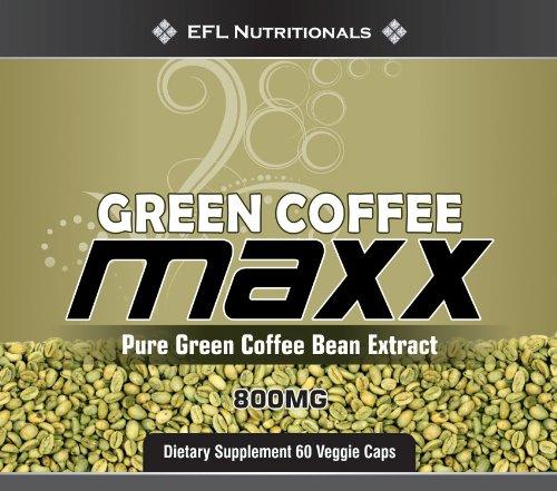 MAXX Café vert - L'Original 100% Extrait de Green Bean Coffee avec 45% d'acide chlorogénique 800 mg par capsule Vegicaps Pas de charges 60 Comptage