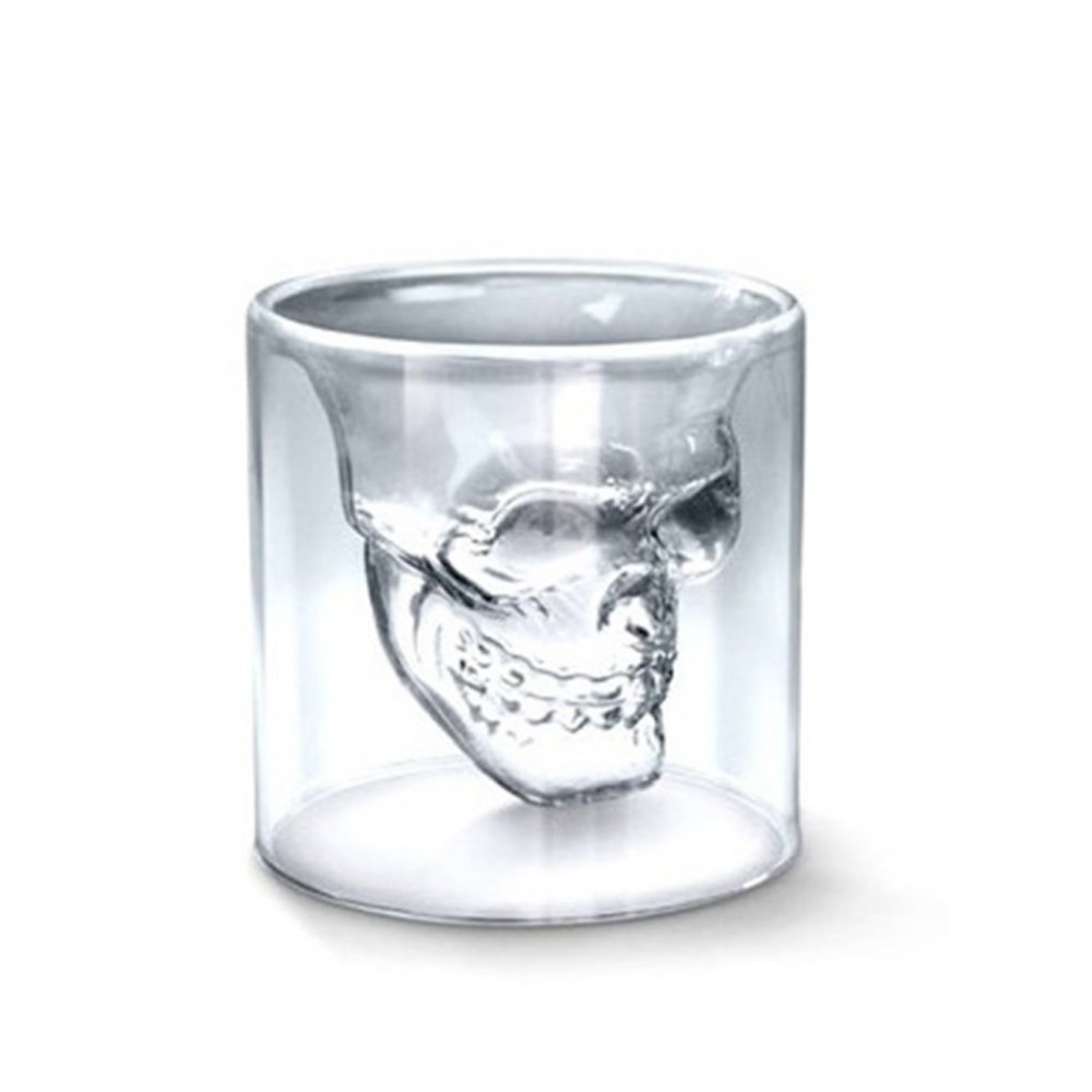 Crystal Skull Pirate Shot Glass Drink Cocktail Beer Cup,75 ML Naisidier