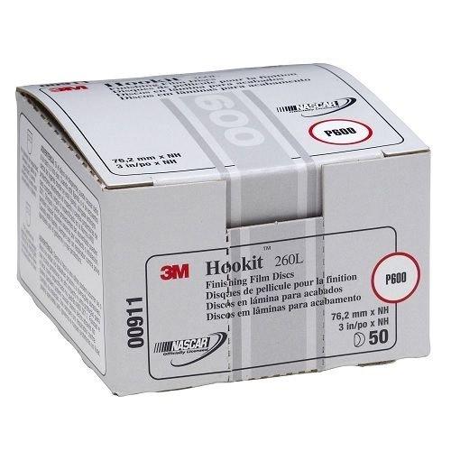 3M 00911 3M Hookit Finishing Film Disc, 00911, 3 in, P600 (Film Finishing Discs Hookit 3m)