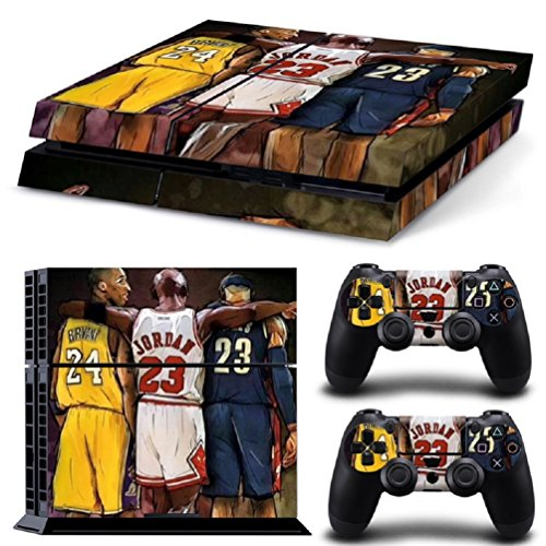 MATTAY-Basketball-Legend-Stars-Whole-Body-Vinyl-Skin-Sticker-Decal-Cover-for-PS4-Playstation-4-System-Console-and-Controllers