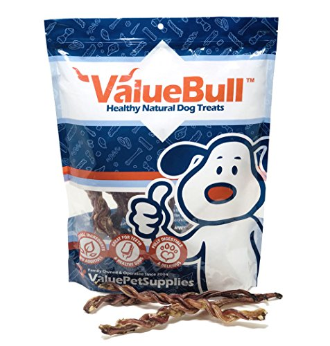 (ValueBull USA Lamb Pizzle Twist Dog Chews, 8 Inch, 10 Count )