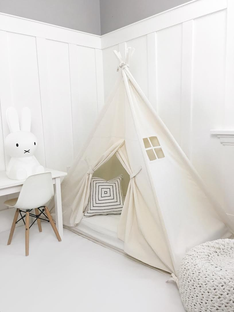 Domestic Objects Handmade Cotton Play Tent Canopy. Great for Toddler Transition to Big Bed - Crib with Doors by Domestic Objects (Image #1)
