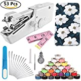 DaBuLiu Handheld Sewing Machine and Sewing Thread Kit,Mini Portable Sewing Machine,28 Pcs Sewing Threads,16 Pcs Sewing Needles,Scissors and Measuring Tape.