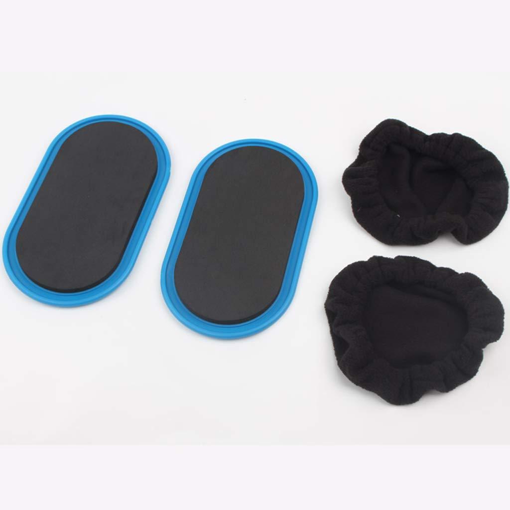 Doppelseitige Gleitscheiben f/ür Teppich Home Abdominal /& Total Body Workout Equipment oder Hartholzb/öden YJJSL Gleitende Gleitscheiben