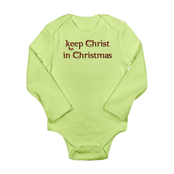 Amazon.com  CafePress - Keep Christ in Christmas Long Sleeve Infant ... 5c675310c
