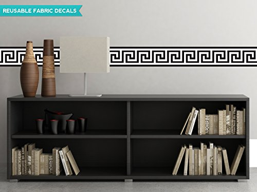 Sunny Decals Greek Key Wall Border Fabric Wall Decal (Set of 2), 25