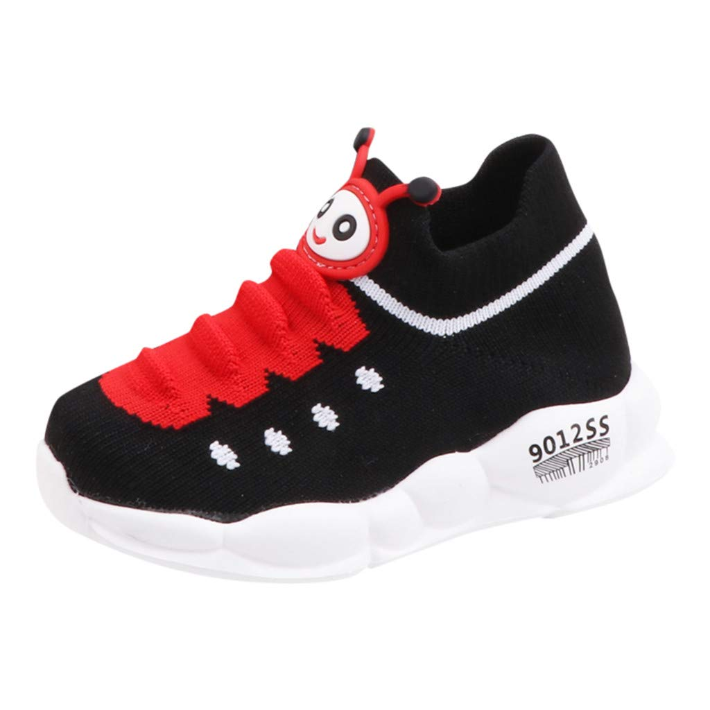 Kauneus Girls Boys Super Cute Fun Sport Sock Shoes for Kids Breathable Knit Lightweight Comfy Stretch Running Sneakers