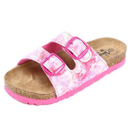 Northside Girls' Mariani Sandal, Fuchsia/Multi, Size 11 M US Little (Multi Buckle Sandals)