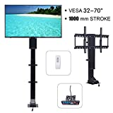 Happybuy Motorized TV Lift 32''-70'' Flat TV 1000mm TV Lift Mechanism Auto Lifting Adjustable Height with Wireless RF Remote Controller for Plasma LCD LED TV and Monitors (SHC-330)