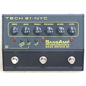 SANSAMP PROGRAMMABLE BASS DRIVER DI