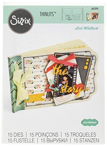 Sizzix Ellison Essential Album Thinlits Die Set by Lori Whitlock (15 Pack), ()