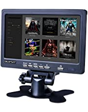 7'' Zoll HD Display Bildschirm Screen, Quimat 1024x600 AV / VGA / HDMI TFT LCD Monitor für TV BOX CCTV Computer PC DVR Home Office, kompatibel mit Raspberry Pi 3 2 1 Modell B B +