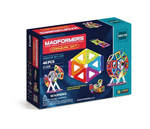 63074Magformers Creator Carnival Set (46-pieces) Deluxe Building Set. Magnetic Building Blocks, Educational Magnetic Tiles, Magnetic Building STEM Toy Set (46 Piece Set)