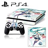 [PS4] Hatsune Miku #1 Whole Body VINYL SKIN STICKER DECAL COVER for PS4 Playstation 4 System Console and Controllers For Sale