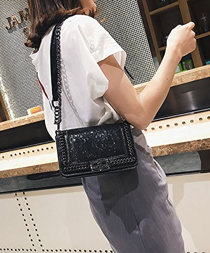 Bags Body Shoulder Leather Women's Faux Bags Bags Black Handbags Cross Top Handle cYwqwE56