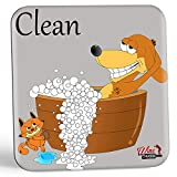 Dish Doggy Clean Dirty Dishwasher Magnet Sign - A Fun & Stylish Clean Dirty Dishwasher Sign Gift with 2 Different Fun Sides for Dog Lovers to Stop Dish Mix-ups Forever