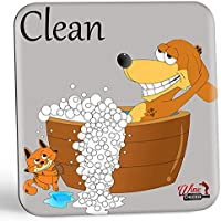 Dish Doggy Clean Dirty Dishwasher Magnet Sign - A Fun & Stylish Clean Dirty Dishwasher Sign Gift with 2 Different Fun Sides for Dog Lovers to Eliminate Those Frustrating Dish Mix-ups Forever