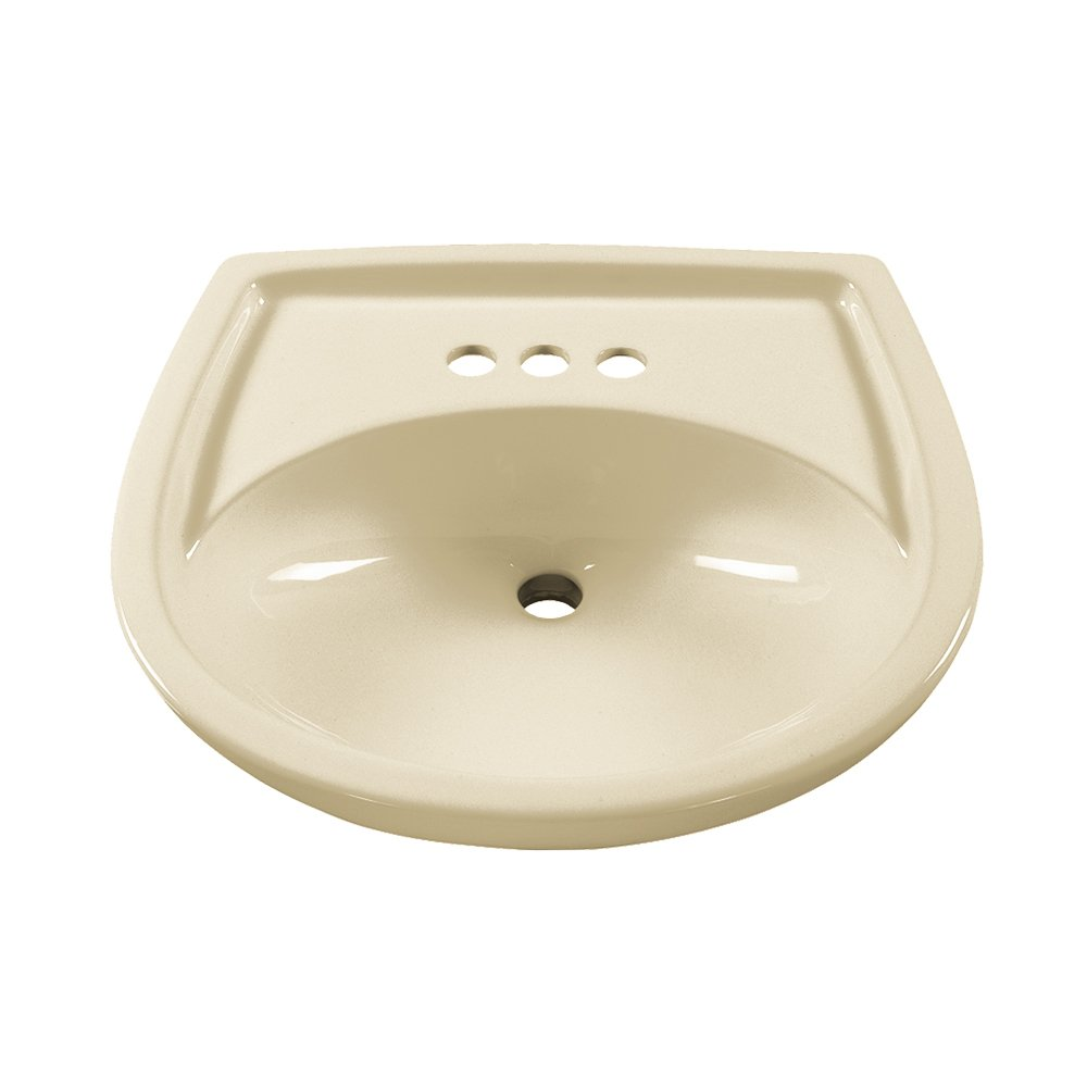 American Standard 0115.404.222 Colony 21 Inch Pedestal Sink Basin With  4 Inch Faucet Holes, Linen     Amazon.com