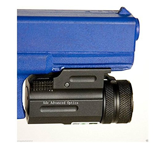Ade Advanced Optics Ultra Compact Pistol Class 3R Green Laser Gun Sight with Quick Release Weaver Mount, Black -