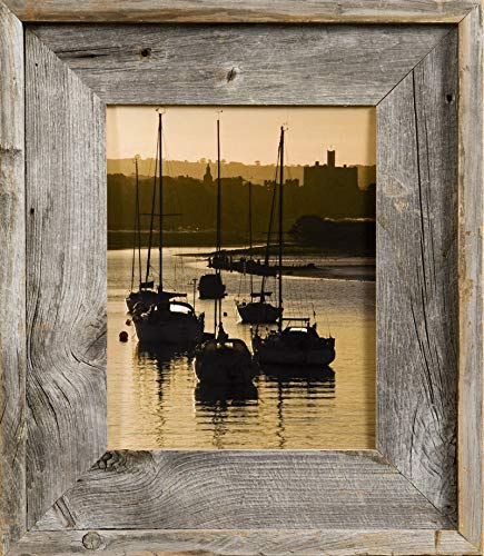 MyBarnwoodFrames - Lighthouse Series Reclaimed Barn Wood 8.5x11 Picture Frame (2.75 Inch Frame Width) (Lodge Picture Frame)