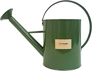 BFA Metal Watering Can with Removable Shower Head, 3.5L (0.92 gal) Retro Design Watering Can for Outdoor Indoor House Garden Plants (Khaki)