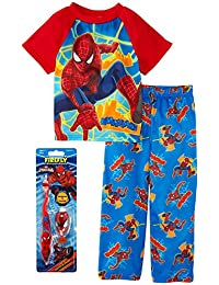 Spiderman Little Boys Pajama and Toothbrush Gift Set, Toddler Sizes 2T-4T