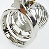 Caroline Giron Spiral Chastity Belt 85mm Stainless Steel Male Chastity Cage Penis sleeve lock Sex Toys Metal Adult Game 2015 Hottest