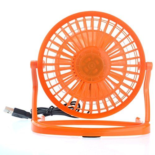 OULII Ultra-quiet USB Powered Plastic Electric Mini Desktop Cooling Fan for PC Laptop Notebook (Orange)