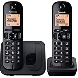 Panasonic KX-TGC212EB Dect Twin Cordless Phones without Answering Machine - Black