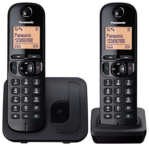 Panasonic KX-TGC212EB Dect Twin Cordless Phones with Call Blocking - Black