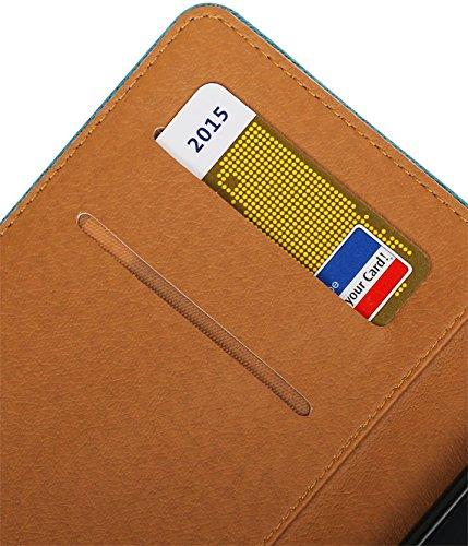 MobileFashion Pull-Up Book Cases pour Iphone 6 plus Portefeuille Case Cover Booktype avec Slots pour cartes et support