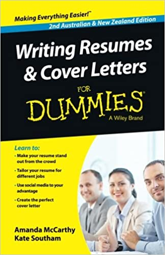 writing resumes and cover letters for dummies nz  writing resumes and cover letters for dummies nz amanda mccarthy kate southam 9780730307808 com books