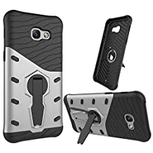 Galaxy A5 (2017) Case, SsHhUu Tough Heavy Duty Shock Proof Defender Cover Dual Layer Armor Combo with Swivel Kickstand Protective Hard Cover Case for Samsung Galaxy A5 (2017) / A520F (5.2 Inch) Gray