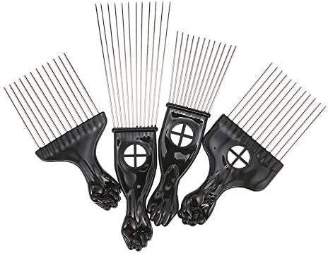 4 piezas Peine Afro negro, Anself Peine Set Metal Afro Hair Style ...