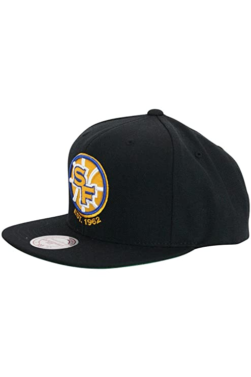 a9e5bba120173 Mitchell N Ness San Francisco Golden State Warriors Black Sf Snapback Hat  Cap