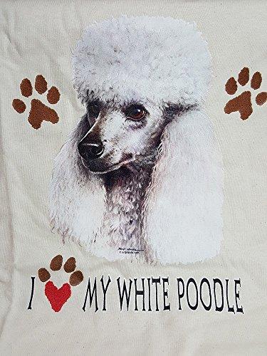 I Love My White Poodle Cream T-Shirt Size Medium (Poodle Size)
