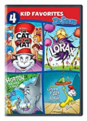 4 Kid Favorites: Dr. Seuss (DVD)THE CAT IN THE HAT- It's a rainy day at home and siblings Dick and Sally have nothing to do. All of that changes when The Cat and his messy sidekicks, Thing One and Thing Two, burst onto the scene, bringing wit...