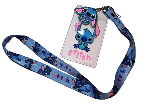 Disney's Lilo & Stitch Movie STITCH Character ID Holder LANYARD Keychain w/Charm