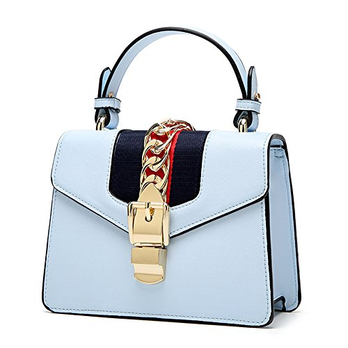 Bolsos Blue Hombro Mano Señoras GWQGZ De Bolsas De Nueva Azul Moda Bolsos Temperamento HTqFxqf4w8