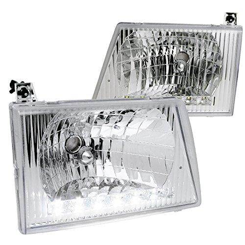Spec-D Tuning LH-ECON92-RS E150/250/350/450 Chrome Econoline Van Smd Led Drl Headlights (E-350 Van)